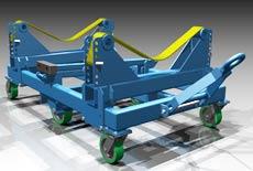 3-D rendering of custom caster for oil processing plant