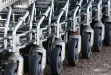 Shopping cart wheels