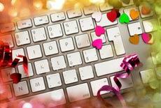 Keyboard with confetti