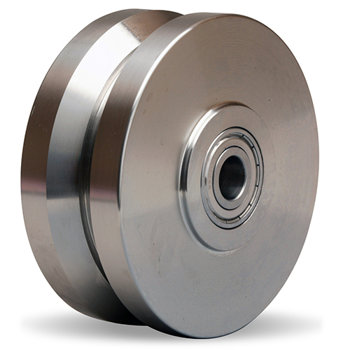 Stainless Steel V Grooved Wheels Cap To 15000 Lbs